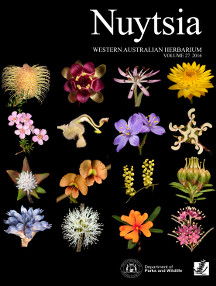 The cover of Volume 27 of Nuytsia celebrates the remarkable diversity displayed by our unique Western Australian flora. These images were taken by Kevin Thiele during his tenure as the Curator of the Western Australian Herbarium (2006–2015).